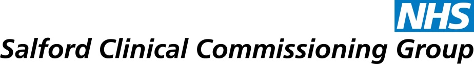 Salford Clinical Commissioning Group CCG